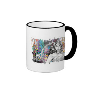 Wonder Woman Collage 6 Ringer Mug