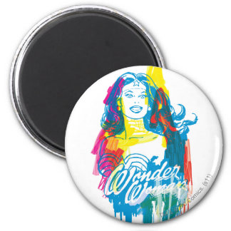 Wonder Woman Colorful 1 6 Cm Round Magnet