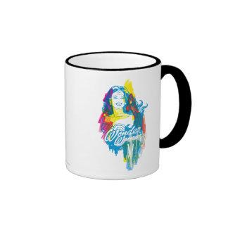 Wonder Woman Colorful 1 Ringer Mug