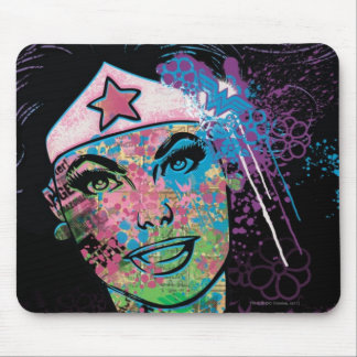 Wonder Woman Colorful Collage Mouse Mat