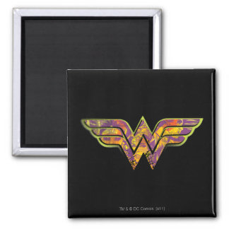 Wonder Woman Colorful Logo Square Magnet