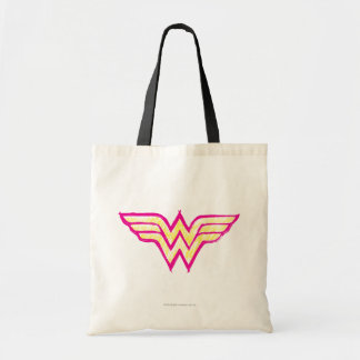 Wonder Woman Colorful Pink and Yellow Logo