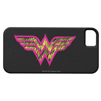 Wonder Woman Colorful Pink and Yellow Logo Barely There iPhone 5 Case