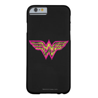 Wonder Woman Colorful Pink and Yellow Logo Barely There iPhone 6 Case