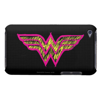 Wonder Woman Colorful Pink and Yellow Logo Barely There iPod Cases