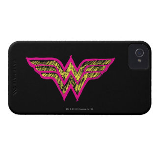 Wonder Woman Colorful Pink and Yellow Logo iPhone 4 Case-Mate Cases