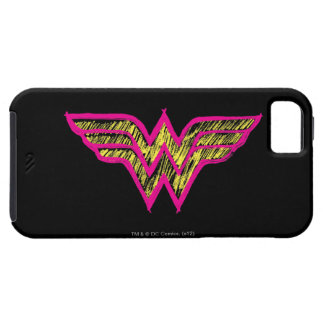 Wonder Woman Colorful Pink and Yellow Logo iPhone 5 Cover