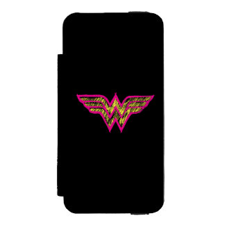 Wonder Woman Colorful Pink and Yellow Logo Incipio Watson™ iPhone 5 Wallet Case