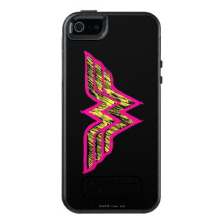 Wonder Woman Colorful Pink and Yellow Logo OtterBox iPhone 5/5s/SE Case