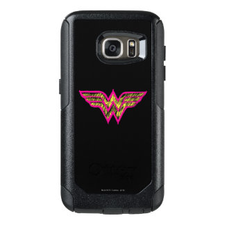 Wonder Woman Colorful Pink and Yellow Logo OtterBox Samsung Galaxy S7 Case