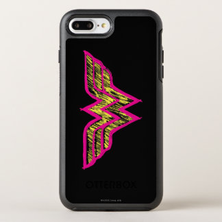 Wonder Woman Colorful Pink and Yellow Logo OtterBox Symmetry iPhone 8 Plus/7 Plus Case