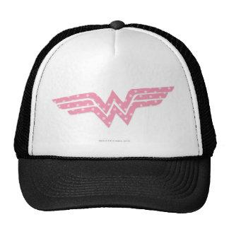 Wonder Woman Colorful Pink Floral Logo Cap