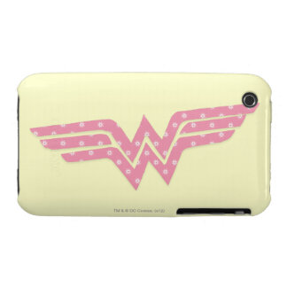 Wonder Woman Colorful Pink Floral Logo Case-Mate iPhone 3 Cases