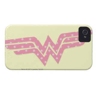 Wonder Woman Colorful Pink Floral Logo iPhone 4 Cover