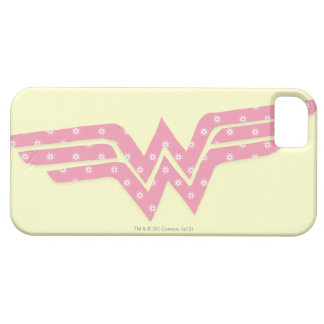 Wonder Woman Colorful Pink Floral Logo iPhone 5 Case