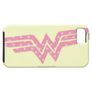 Wonder Woman Colorful Pink Floral Logo iPhone 5 Cases
