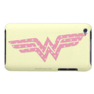 Wonder Woman Colorful Pink Floral Logo iPod Touch Case