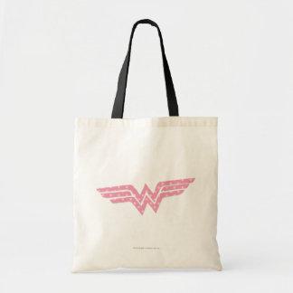 Wonder Woman Colorful Pink Floral Logo Tote Bag