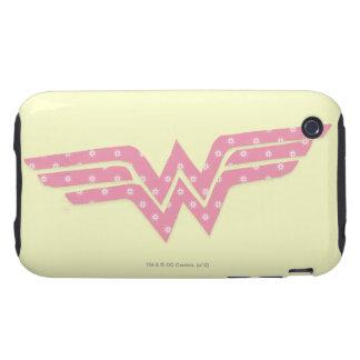 Wonder Woman Colorful Pink Floral Logo Tough iPhone 3 Cases
