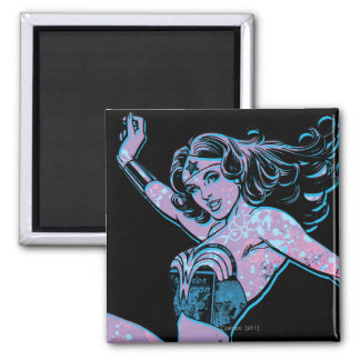 Wonder Woman Colorful Pose Magnet