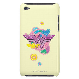 Wonder Woman Colorful Scribbles Barely There iPod Case