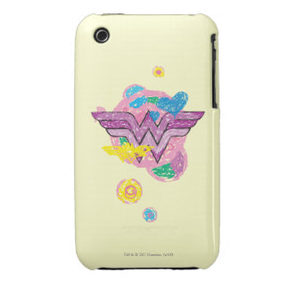 Wonder Woman Colorful Scribbles iPhone 3 Case