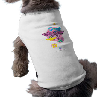 Wonder Woman Colorful Scribbles Dog Clothes