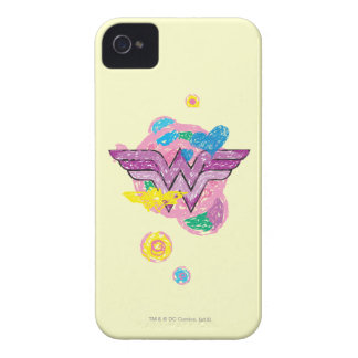 Wonder Woman Colorful Scribbles iPhone 4 Case