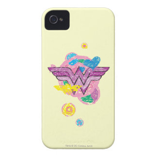 Wonder Woman Colorful Scribbles iPhone 4 Cases