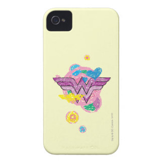 Wonder Woman Colorful Scribbles iPhone 4 Cover