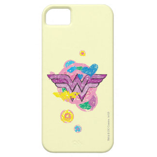 Wonder Woman Colorful Scribbles iPhone 5 Cases