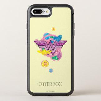 Wonder Woman Colorful Scribbles OtterBox Symmetry iPhone 8 Plus/7 Plus Case