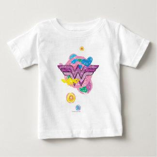 Wonder Woman Colorful Scribbles T Shirt