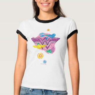 Wonder Woman Colorful Scribbles T-Shirt