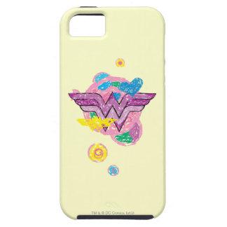 Wonder Woman Colorful Scribbles Tough iPhone 5 Case