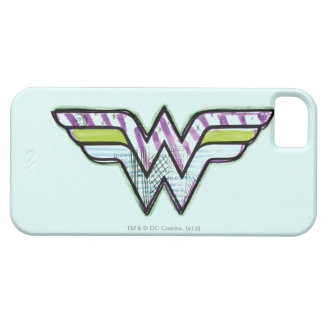 Wonder Woman Colorful Sketch Logo Barely There iPhone 5 Case
