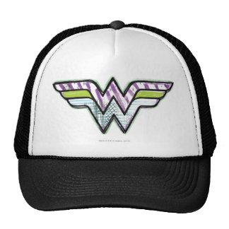 Wonder Woman Colorful Sketch Logo Cap