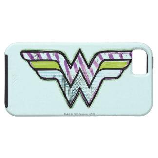 Wonder Woman Colorful Sketch Logo iPhone 5 Case