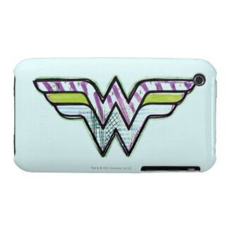 Wonder Woman Colorful Sketch Logo Case-Mate iPhone 3 Case