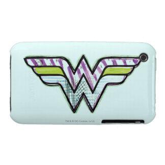 Wonder Woman Colorful Sketch Logo Case-Mate iPhone 3 Case