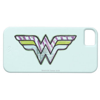 Wonder Woman Colorful Sketch Logo iPhone 5 Cases