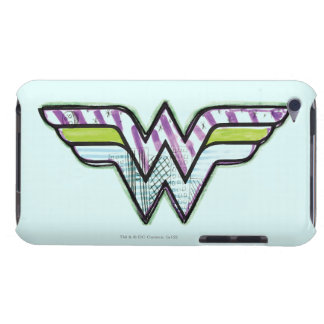 Wonder Woman Colorful Sketch Logo iPod Touch Case-Mate Case