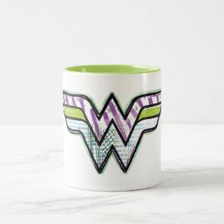 Wonder Woman Colorful Sketch Logo Two-Tone Mug