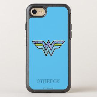 Wonder Woman Colorful Sketch Logo OtterBox Symmetry iPhone 7 Case