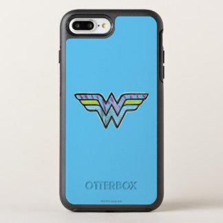 Wonder Woman Colorful Sketch Logo OtterBox Symmetry iPhone 8 Plus/7 Plus Case
