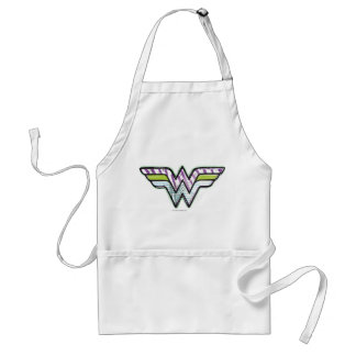 Wonder Woman Colorful Sketch Logo Standard Apron