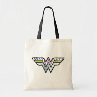 Wonder Woman Colorful Sketch Logo Tote Bag
