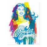 Wonder Woman Colourful 1 Post Card