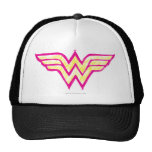 Wonder Woman Colourful Pink and Yellow Logo Cap