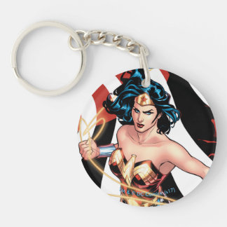Wonder Woman Comic Cover #12 Double-Sided Round Acrylic Key Ring